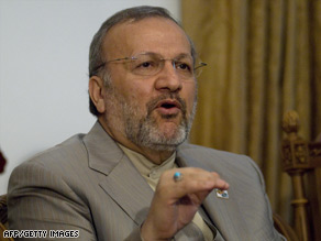 Foreign Minister Manouchehr Mottaki said no deadline was discussed in talks between Iranian and EU negotiators.