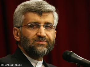 Saeed Jalili, Iran's top nuclear negotiator, says his country will respond to the offer on Tuesday.