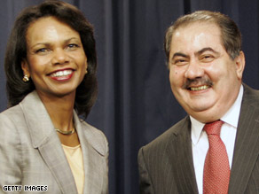 Secretary of State Condoleezza Rice and Iraqi Foreign Minister Hoshyar Zebrani held a joint press conference.