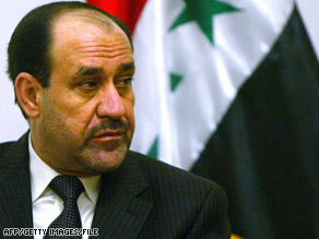 "Iraqi Prime Minister Nuri al-Maliki says the U.S. plan for withdrawing must not be ""open-ended."""