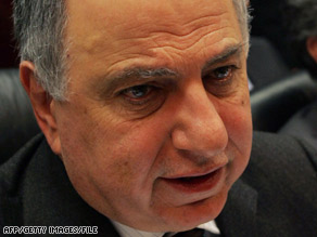 Ahmed Chalabi is condemning the arrest of a member of a de-Baathification committee.