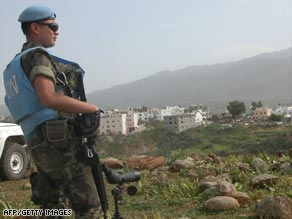 U.N. peacekeepers have had a presence in Lebanon since 1978 after Israel withdrew.
