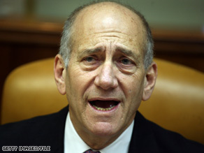 Israeli Prime Minister Ehud Olmert formally announced his intent to leave office at a Cabinet meeting Sunday.