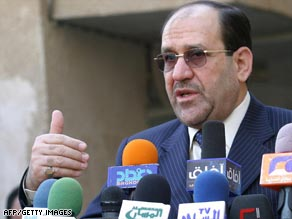 Iraqi Prime Minister Nuri al-Maliki met with officials Tuesday to discuss the draft agreement.