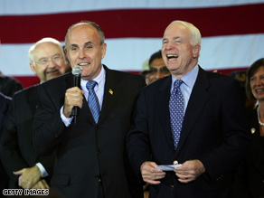 Giuliani endorsed McCain after ending his own presidential campaign.