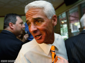 Crist is enjoying strong approval ratings despite the poor economic conditions in his home state of Florida.