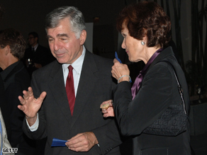 Former Mass. Governor Dukakis with his wife in March.