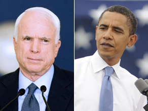 Obama and McCain have reacted to the Iran missile test.