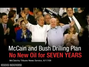 New Obama ad attacks McCain on energy policy – CNN Political Ticker ...