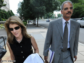 Holder, right, and Caroline Kennedy are heading up Obama's VP search.