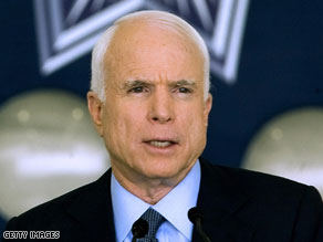  McCain said he could balance the budget by 2013 by keeping taxes low and curbing spending.