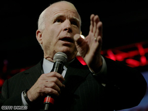 McCain had a few media gripes on Monday.