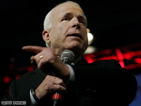 McCain criticized Obama's foreign policy Tuesday.