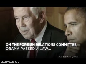 Obama is highlighting his work with Sen. Lugar in a new ad.