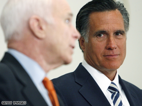 Former Romney donors showed up to help McCain on Friday.
