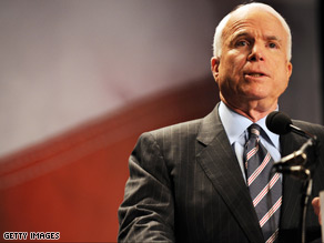 McCain will push for more educational opportunities Wednesday.