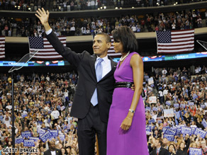 Barack Obama said conservative media is responsible for negative attacks on his wife.