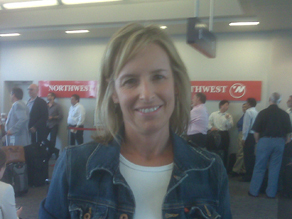 Reporter Randi Kaye stuck in the airport.