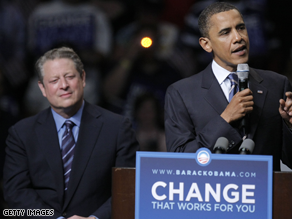 Gore has ruled out being Obama's running mate.