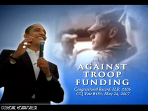 New McCain ad hits Obama on foreign policy.