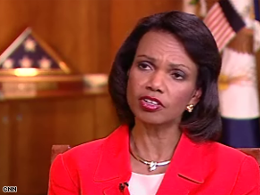 Rice said the U.S. is not softening its stance on Iran.