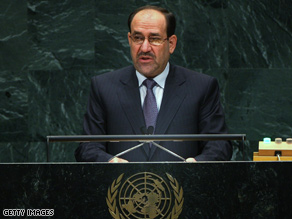 al-Maliki praised Obamas 16-month withdrawal plan in a newspaper report Saturday.