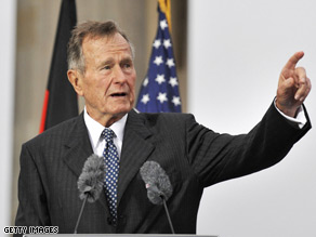 Former Pres. Bush spoke about Obama Monday.