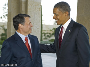 Sen. Obama met with Jordan's King Abdullah Tuesday.