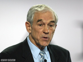 A plane carrying Ron Paul and six other congressmen made an emergency landing Tuesday.