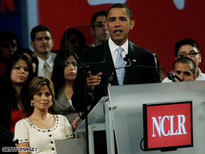 Obama spoke at the National Council of La Raza Annual Meeting earlier this month.