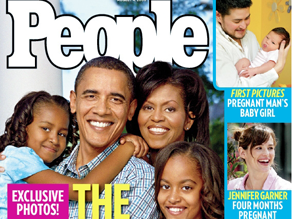 The Obama's are on the cover of People Magazine.