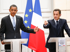 Obama and Sarkozy held a press conference Friday.