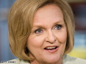 Sen. Claire McCaskill was trapped in a Senate subway car Tuesday morning in Washington along with three other senators, according to her Twitter page.
