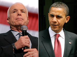 Obama and McCain are talking the economy.