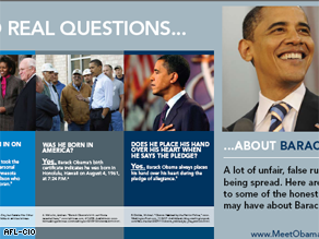A new AFL-CIO mailer seeks to dispel continued false rumors about Obama.