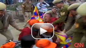 In March, Indian authorities and Tibetan exiles clashed during a protest march against China's rule. CNN's Brian Rokus was there filming 'Buddha's Warriors,' and filed this report.