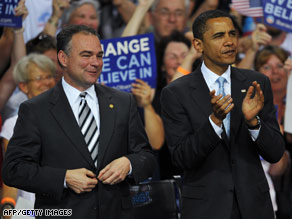 Virginia Gov. Tim Kaine could be in the running to be Barack Obama&#039;s VP.