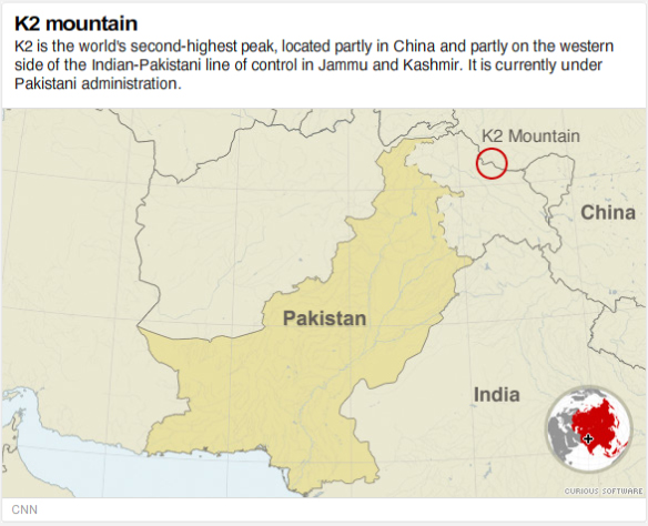 The story Eleven climbers died on Pakistan's K2 mountain