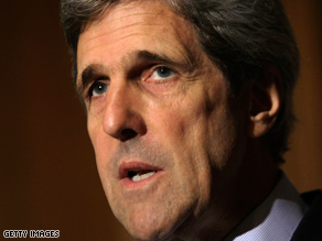 Kerry spoke at an Obama fundraiser Monday night.