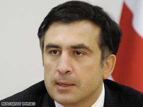 Georgian President Mikhail Saakashvili spoke with both U.S. presidential candidates on Saturday.