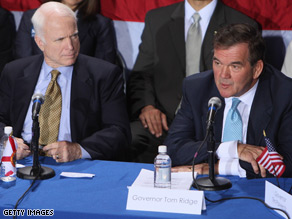 McCain and Gov. Ridge took part in a National Security roundtable in January.
