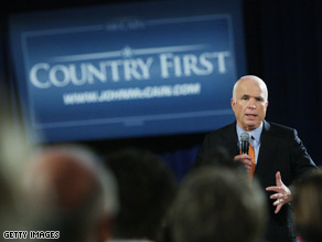McCain said the United States should stand &#039;courageously&#039; with Georgia.