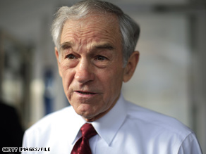 Ron Paul's wife was taken to the hospital Monday.