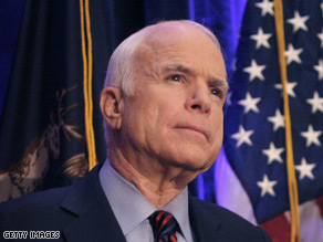McCain said Lieberman and Graham will be leaving as soon as possible.