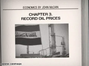 New Obama ad says McCains Iraq policies contributed to economic woes.