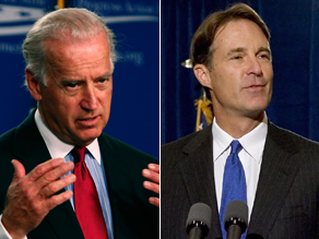 Biden and Bayh are speaking Wednesday night.