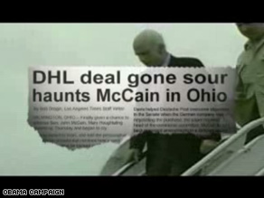 Obamas campaign released its another ad blaming McCain for the potential loss of Ohio jobs.