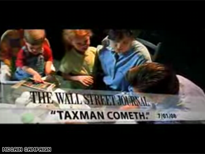 A new McCain ad is sharply critical of Obama&#039;s tax policies.