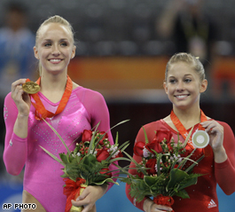 U.S. women gymnasts win gold, silver