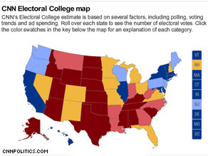 Colorado is a toss-up state, according to CNN's latest Electoral Map.